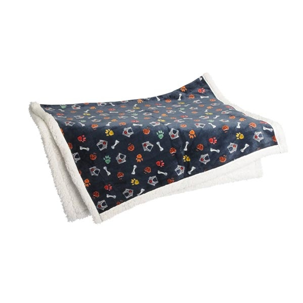 COPERTA SUPERSOFT CANI BLU